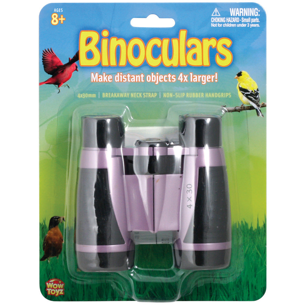 Lightweight Purple Plastic Soft-Grip Children's Binoculars including Neck Strap and 4 x 30 Magnification in its Original Packaging by Eastcolight.