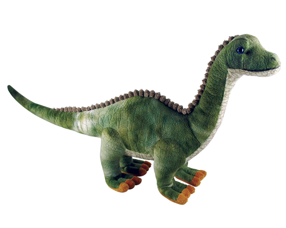 Super Soft Highly Detailed Plush Stuffed Animal Dinosaur: Apatosaurus also known as the Brontosaurus measuring 20 inches long by Cuddle Zoo.