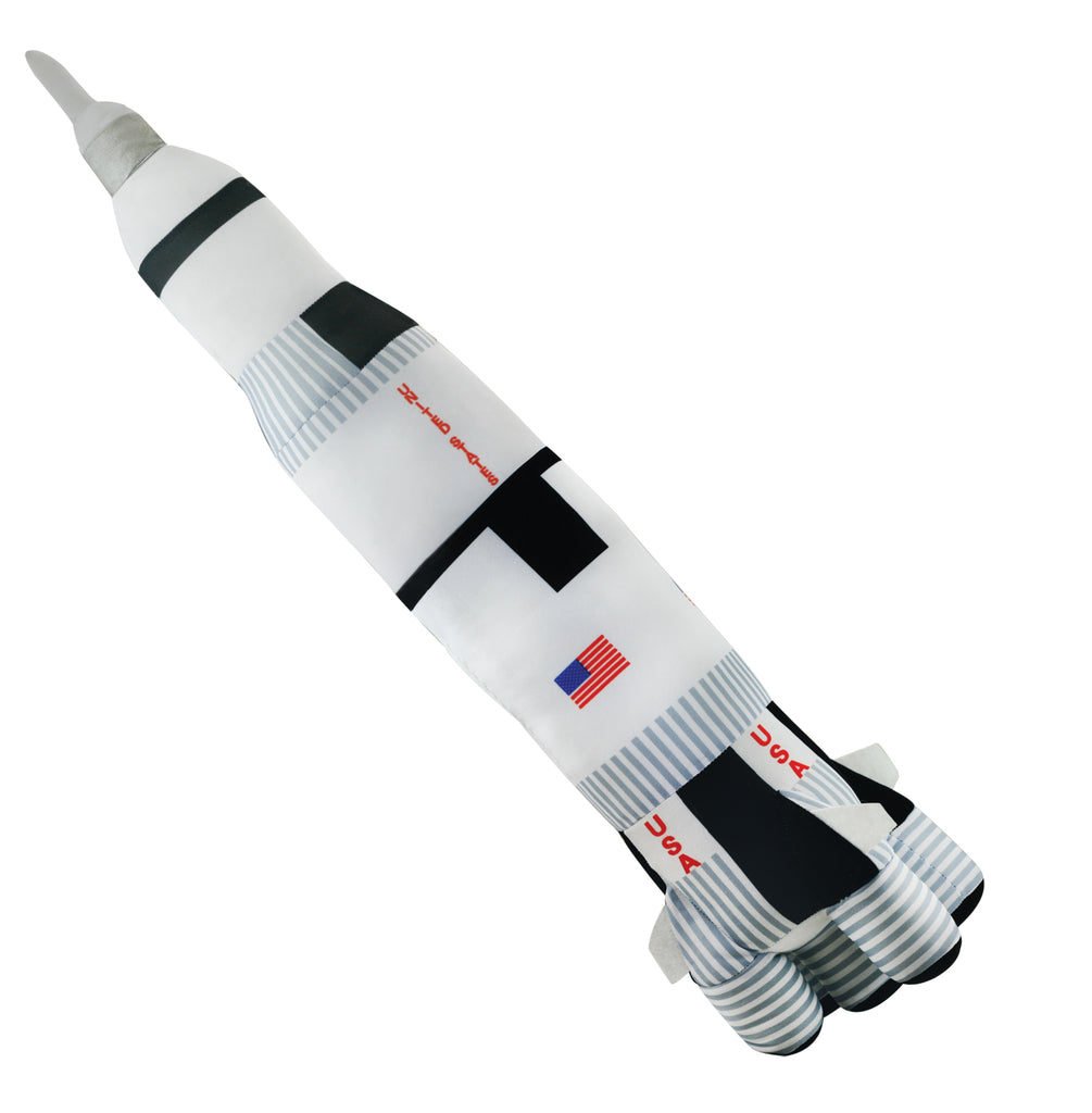 Super Soft Highly Detailed Jumbo Plush Stuffed Animal NASA Saturn V Rocket used on Apollo Missions measuring 28 inches tall by Cuddle Zoo.