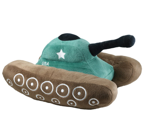 Super Soft Highly Detailed Plush Stuffed Animal Military Tank with Embroidered Details measuring 12 inches long by Cuddle Zoo.