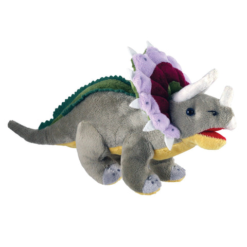 Super Soft Highly Detailed Plush Stuffed Animal Dinosaur: Triceratops measuring 12 inches long by Cuddle Zoo.