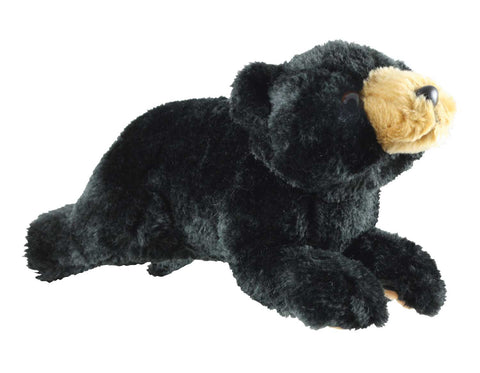 Super Soft Highly Detailed Plush Stuffed Animal Black Bear measuring 11 inches long by Cuddle Zoo.