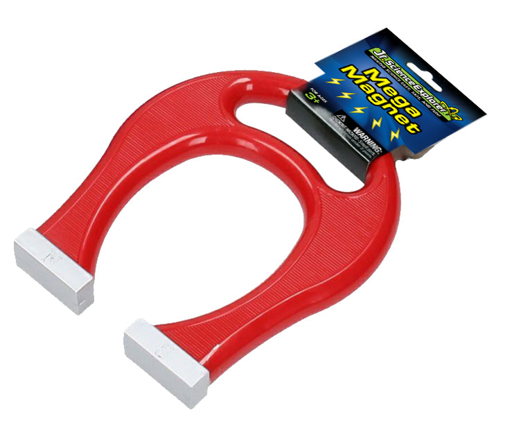 8 Inch Tall Jumbo Red Working Magnet with Convenient Carry Handle.