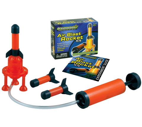 Safe, Educational, Hands On Science Kit that Teaches the Basics of Air Compression and Physics. Comes with 3 Soft Tip Red Foam Rockets, Launcher and Educational, Easy to Follow Experiment Guide.