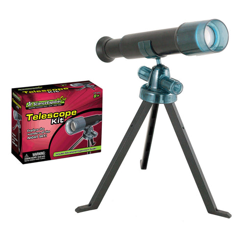 Safe, Educational Plastic Working Telescope Science Kit that Requires Assembly and features Magnification Lens, Tripod and Educational, Easy to Follow Experiment Guide.