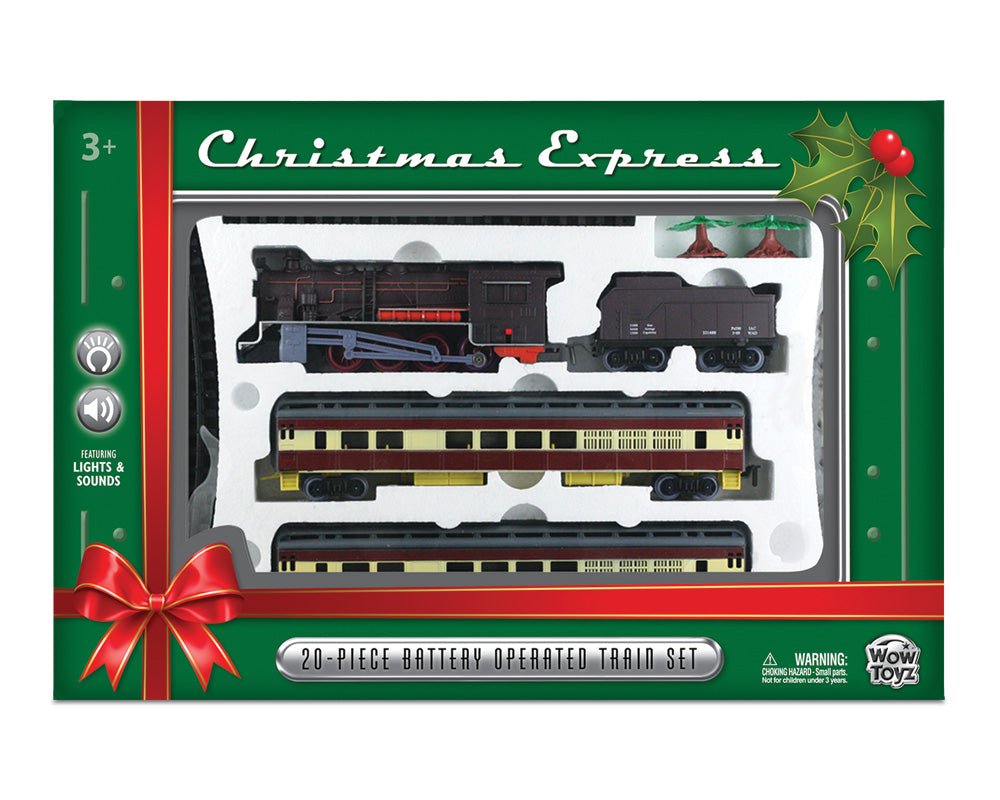 Christmas Train Cast.Wowtoyz Classic Train Set 20 Piece Christmas Express