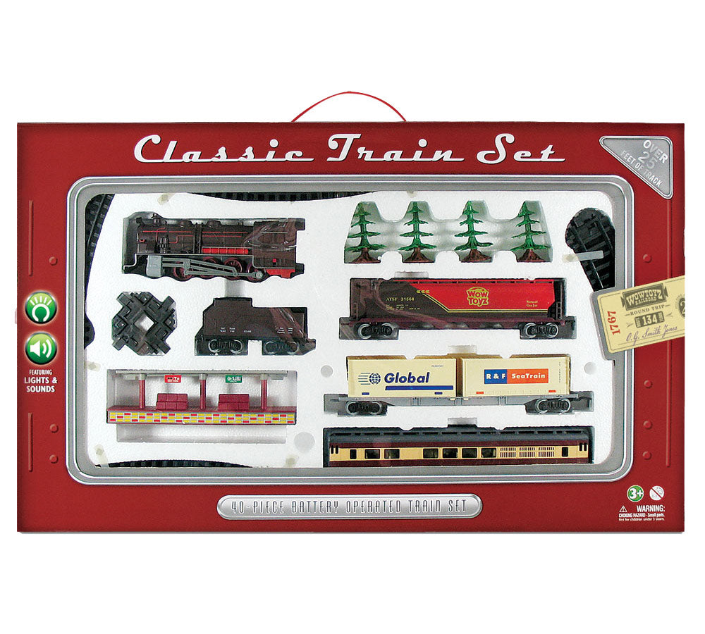 WowToyz Classic Train Set 40-piece Deluxe - Steam Engine