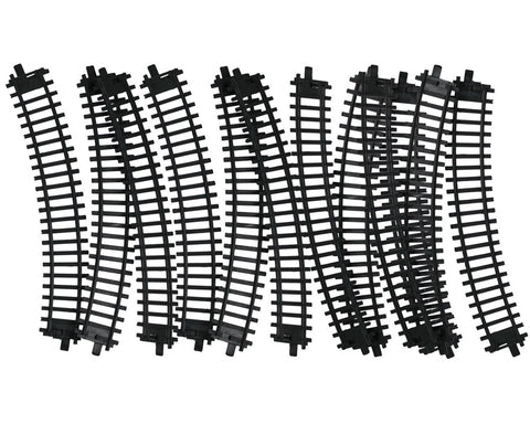 10 Pieces of Durable Plastic Replacement Snap Together Curved Track to be used with the 14, 20 or 40 Piece WowToyz Classic Hobby Model Train Sets.
