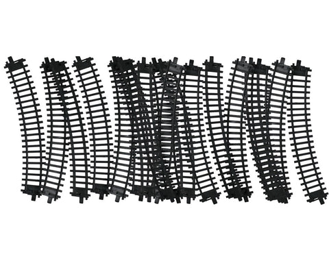 20 Pieces of Durable Plastic Replacement Snap Together Curved Track to be used with the 14, 20 or 40 Piece WowToyz Classic Hobby Model Train Sets.