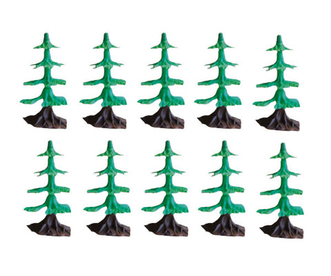 SET of 10 Plastic Scale Trees to be used with the WowToyz Classic and Scout Hobby Model Train Sets.