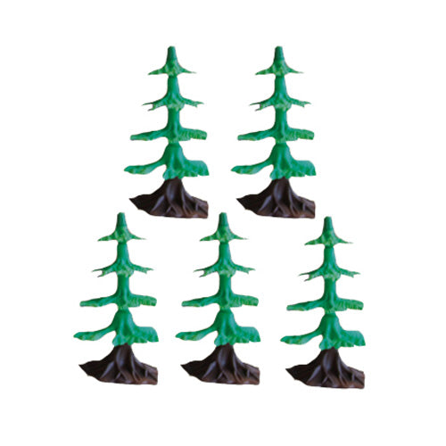 SET of 5 Plastic Scale Trees to be used with the WowToyz Classic and Scout Hobby Model Train Sets.