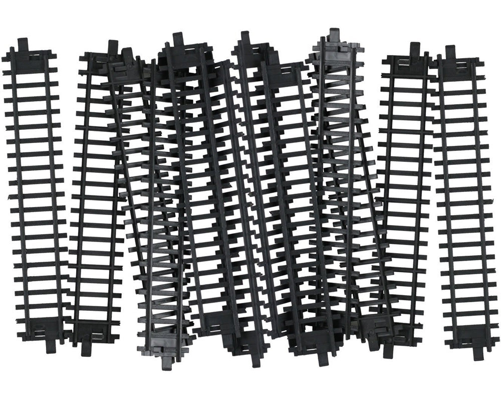 10 Pieces of Durable Plastic Replacement Snap Together Straight Track to be used with the 14, 20 or 40 Piece WowToyz Classic Hobby Model Train Sets.