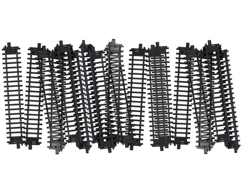 20 Pieces of Durable Plastic Replacement Snap Together Straight Track to be used with the 14, 20 or 40 Piece WowToyz Classic Hobby Model Train Sets.