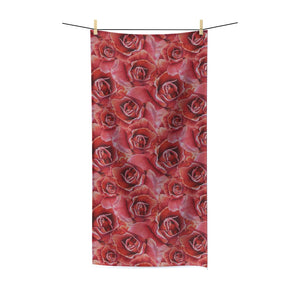 Ravishing Red Rose Polycotton Towel