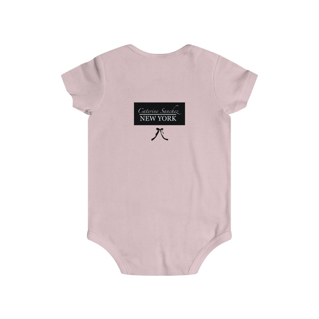 Black Ribbon Infant Rip Snap Tee