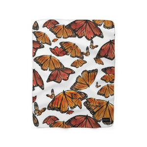 Butterfly Sherpa Fleece Blanket