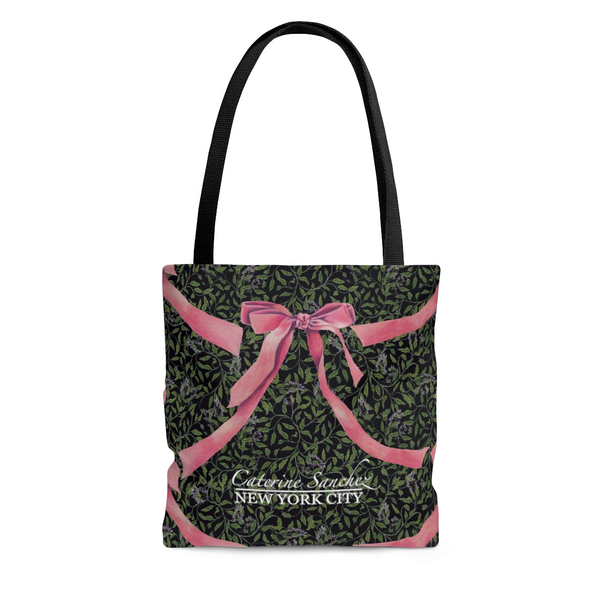 Enchanting Ribbons in Midnight Meadows Tote Bag