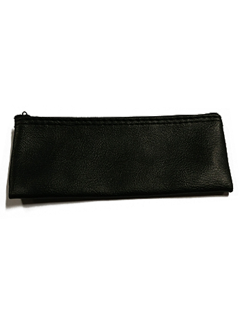 Black Leather Carrying Case with Zipper