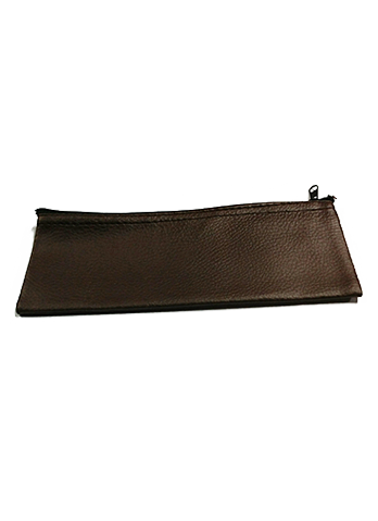 Brown Leather Carrying Case with Zipper