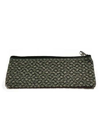 Grey Puffy Carrying Case with Zipper