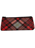 Red Plaid Medwakh Carrying Case with Zipper