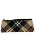 Dark Tan Plaid Carrying Case with Zipper