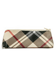 Tan Plaid Carrying Case with Zipper