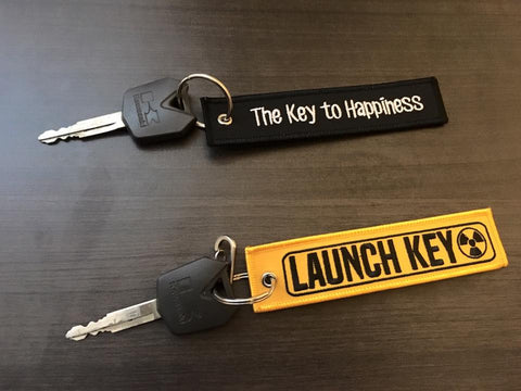 CG KeyTags Motorcycle Keychain - The Key to Happiness and Launch Key