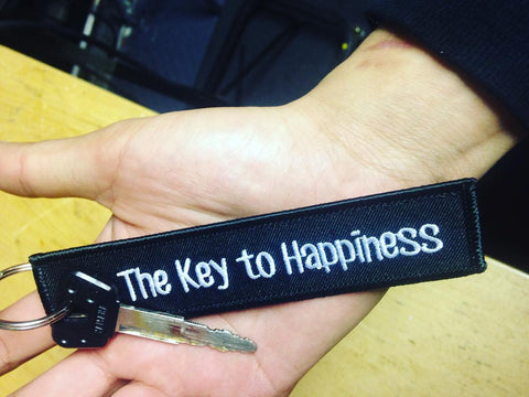 CG KeyTags Motorcycle Keychains - The Key to Happiness