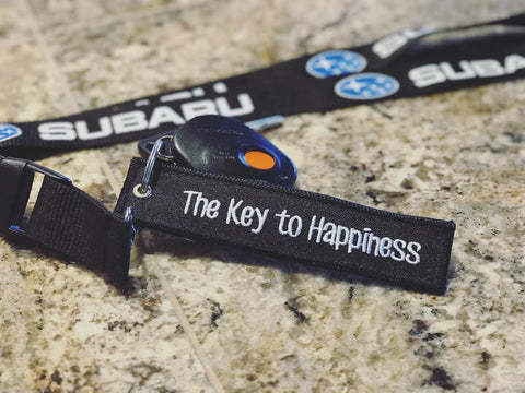 CG KeyTags Motorcycle Keychain - Key to Happiness