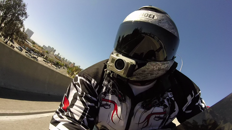 Dash view of a motorcycle rider - GhostNinja