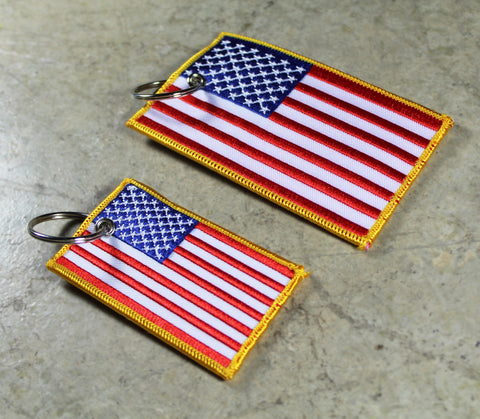 American Flag - Original MotoMinds Key Tag