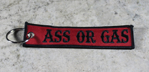 Ass or Gas , No Free Rides - Original MotoMinds Key Tag