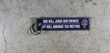 God Will Judge Our Enemies, We Will Arrange The Meeting - America AF Original Key Tag