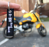 0-100 Real Quick - MotoMinds Mini Key Tag