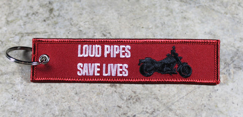 'Loud Pipes Save Lives' - MotoMinds™ Key Tag