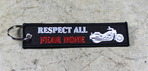 Respect All, Fear None - Original MotoMinds Key Tag