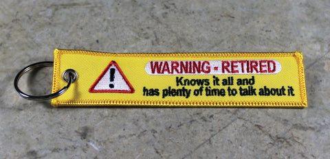 WARNING RETIRED - Original MotoMinds KeyTag