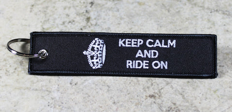 'Keep Calm and Ride On' - MotoMinds™ Key Tag