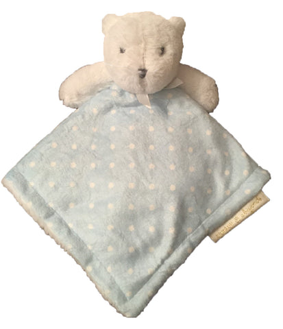 Baby Blue Bear Lovie with Polk-a-Dots