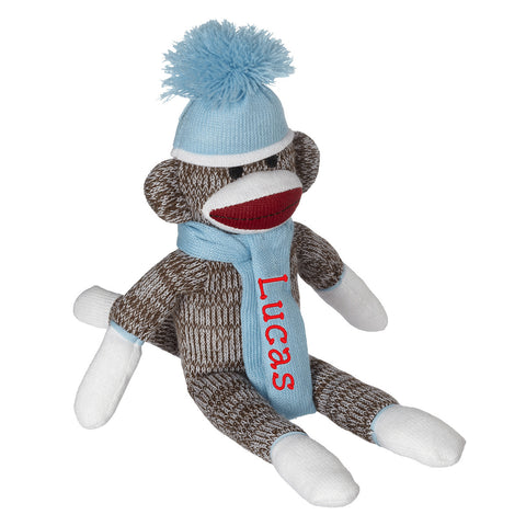 Sock Monkey - Light Blue