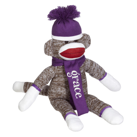 Sock Monkey - Purple