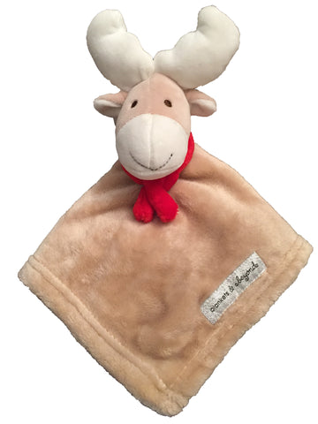 NEW! Fleece Christmas Reindeer Lovie - Red Scarf