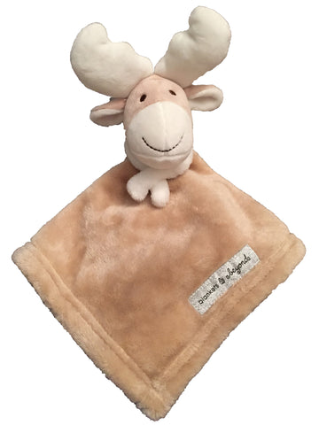 NEW! Fleece Christmas Reindeer Lovie - White Scarf