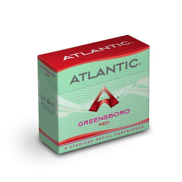 Greensboro Red Refill Single Pack (8 Count) - Inspired by Green Smoke® Red Label Tobacco - AtlanticVapor.com