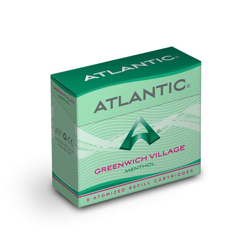 Greenwich Village Menthol Refill Single Pack (8 Count) - Inspired by Green Smoke® Menthol Ice - AtlanticVapor.com