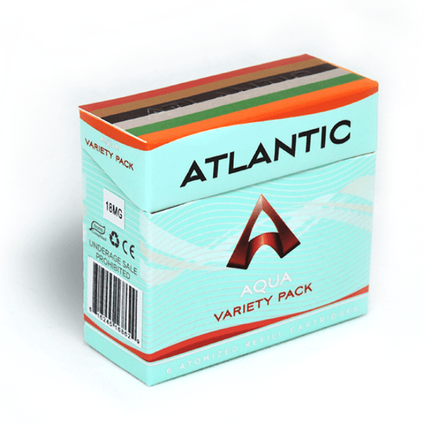 Atlantic Aqua Variety 18 MG Refill Single Pack (6 Count) - AtlanticVapor.com