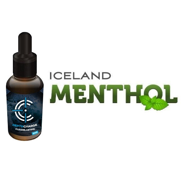 Iceland Menthol Depth Charge Max VG E-Liquid (30mL)