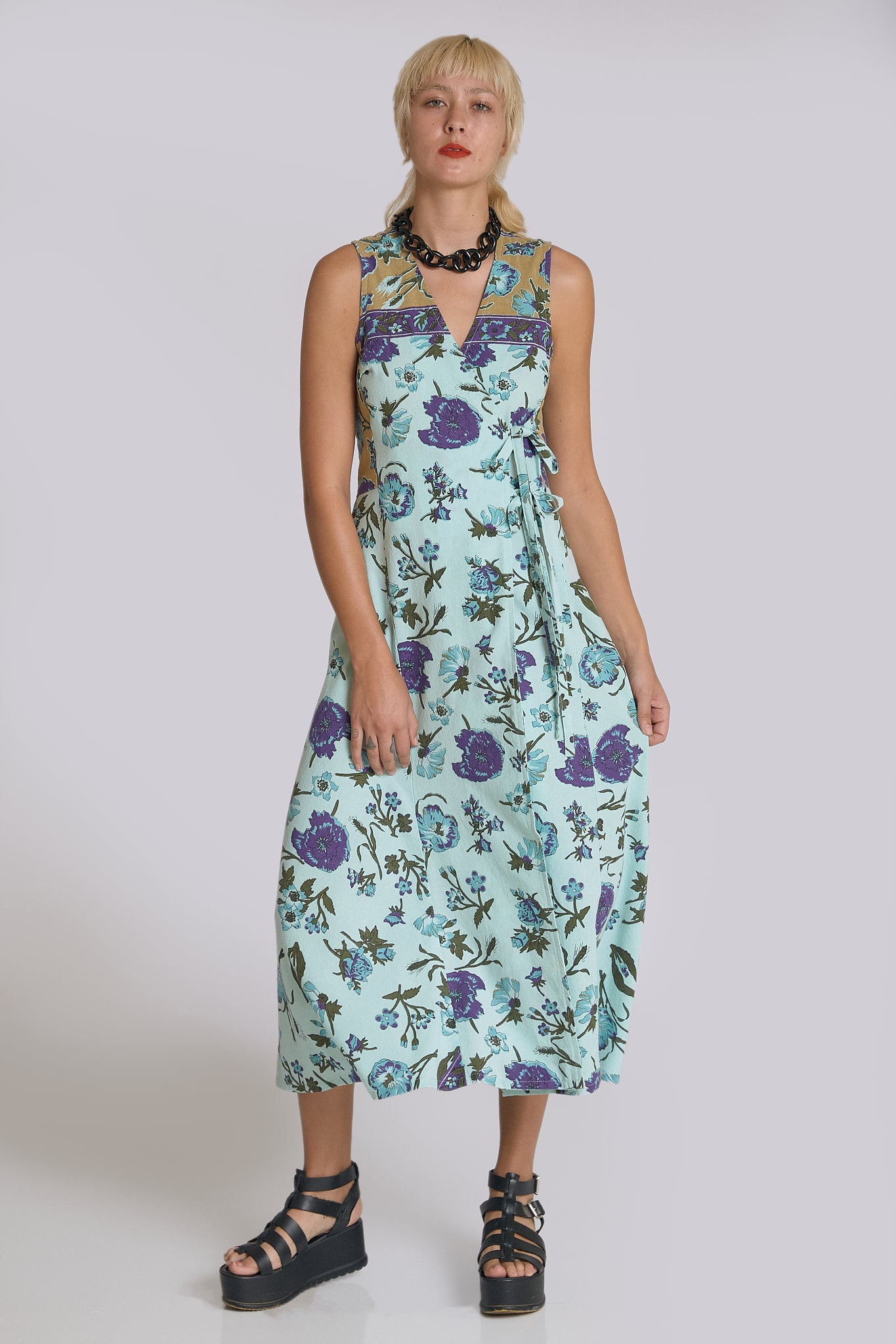 Michelle Wrap Midi Dress
