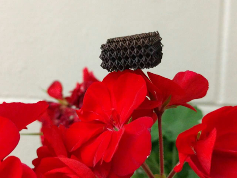 3D printed ultralight microlattice supported on flower